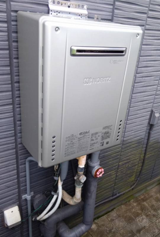 東海市でノーリツのエコジョーズ給湯器GT-C2462AWXへの交換工事
