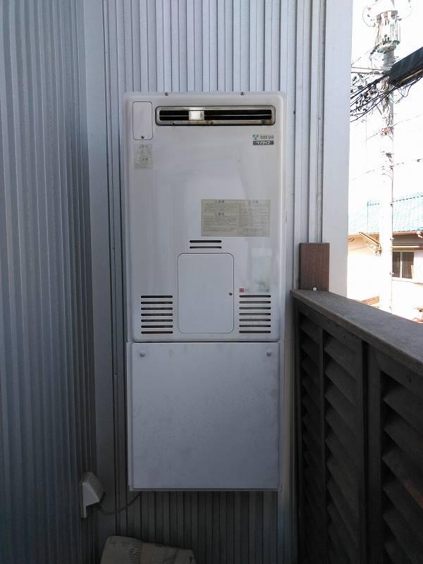 名古屋市名東区でリンナイの暖房給湯器の交換工事