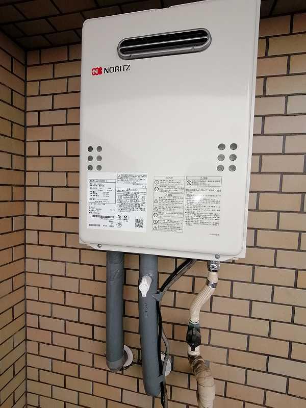 名古屋市昭和区でノーリツの給湯器GQ-1639WSへの交換工事