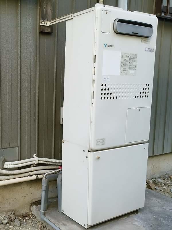 ノーリツの暖房機能付きふろ給湯器GTH-C2436AWX6H(FT-4205ARSAW6C) を交換工事