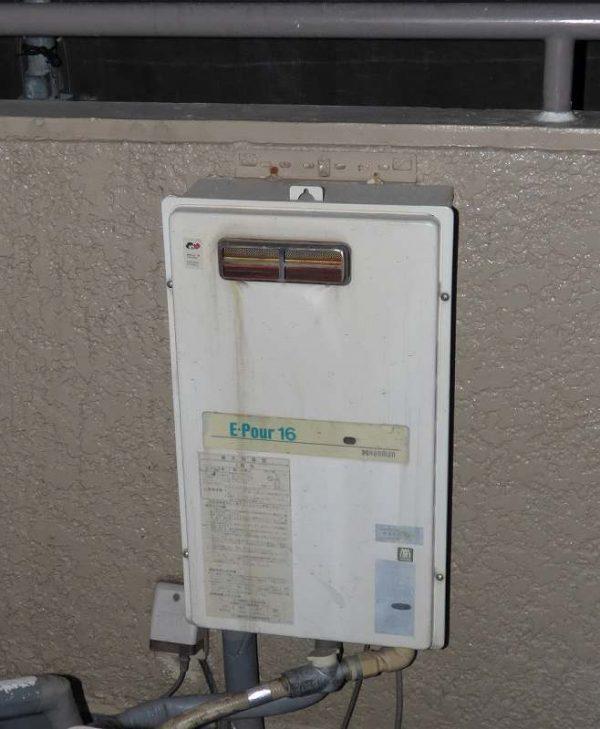 ハーマンの給湯専用機E-Pour16からノーリツGQ-2039WSへ交換工事のみ