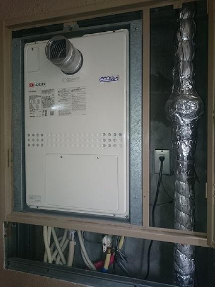 ノーリツ暖房熱源付きふろ給湯器GTH-C2451AW6H-T-1へ交換工事
